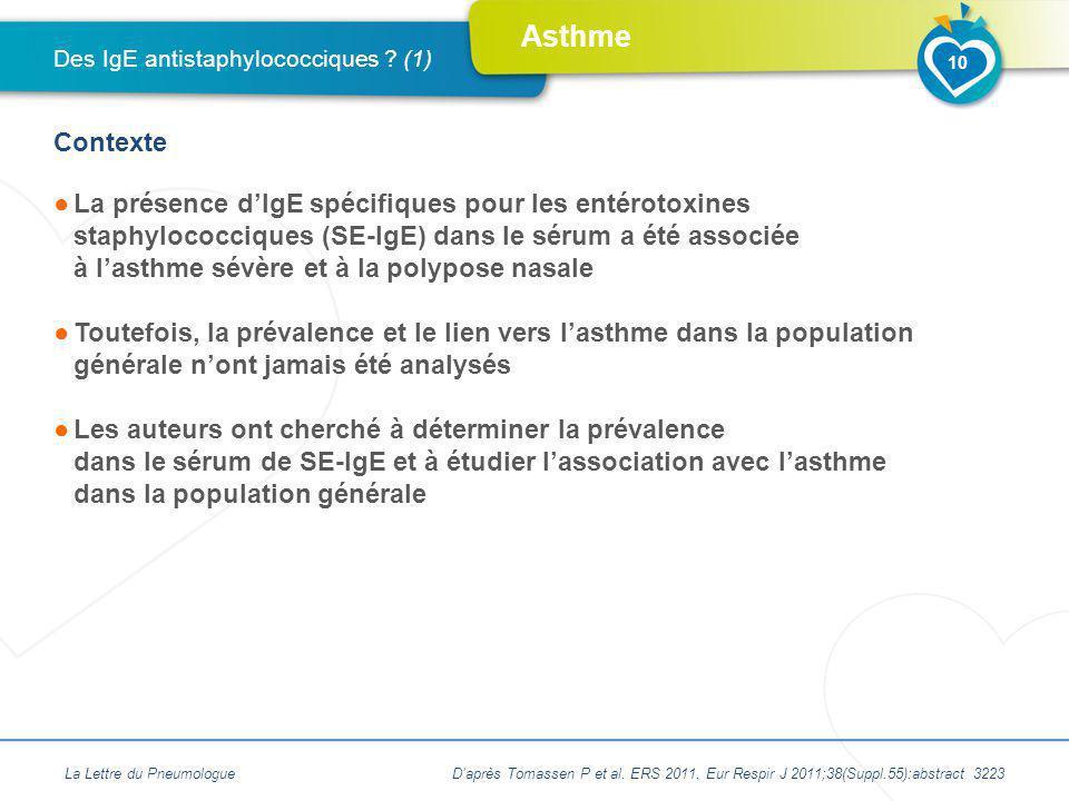 Des IgE antistaphylococciques (1)