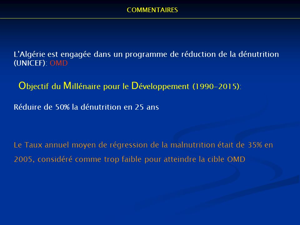 Objectif du Millénaire pour le Développement (1990-2015):