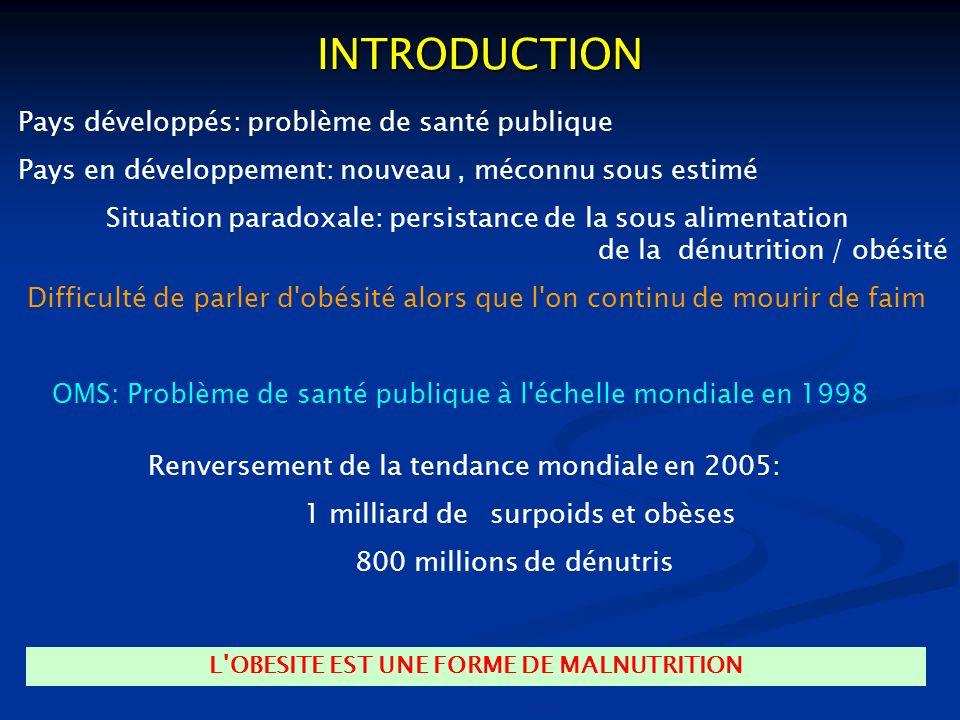 L OBESITE EST UNE FORME DE MALNUTRITION