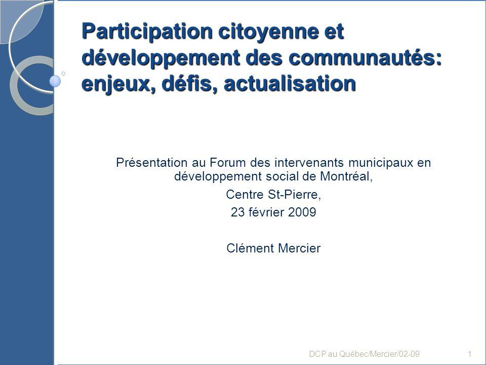 Participation de développement des communautés