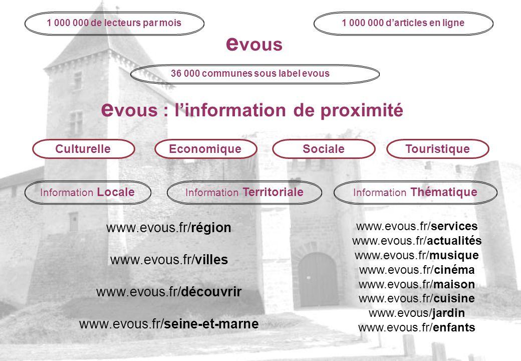evous : l'information de proximité