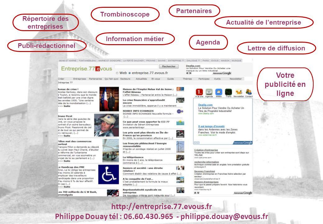 Philippe Douay tél : 06.60.430.965 - philippe.douay@evous.fr