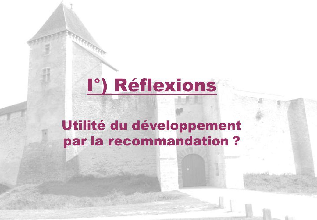 Utilité du développement par la recommandation