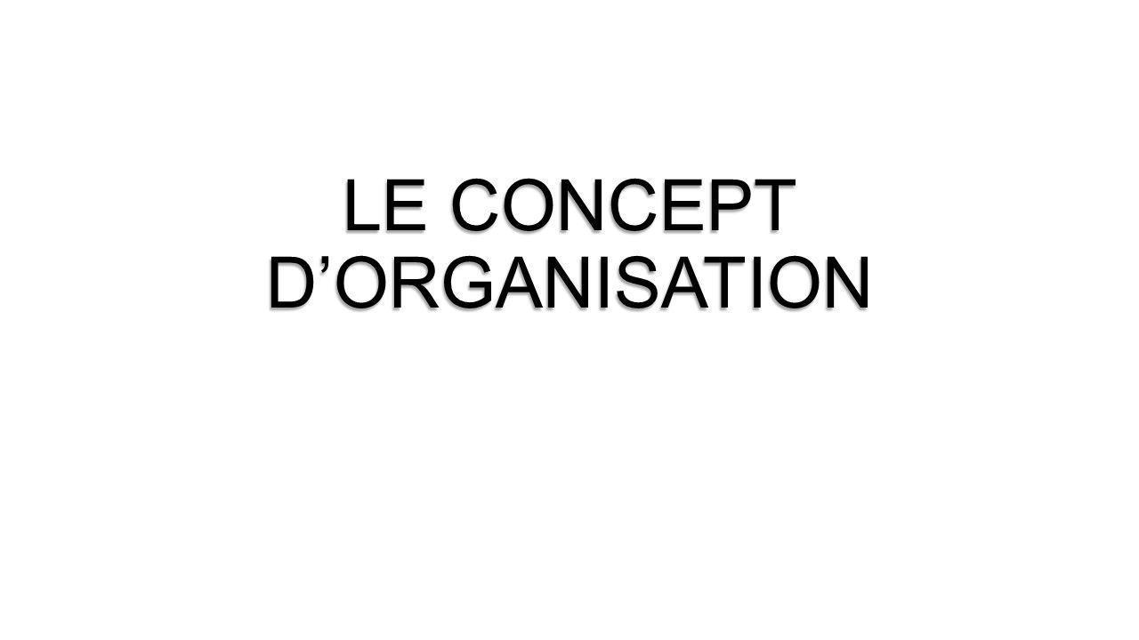 LE CONCEPT D'ORGANISATION