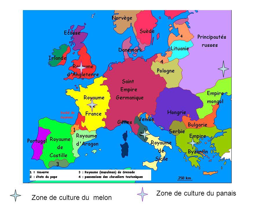 Zone de culture du panais