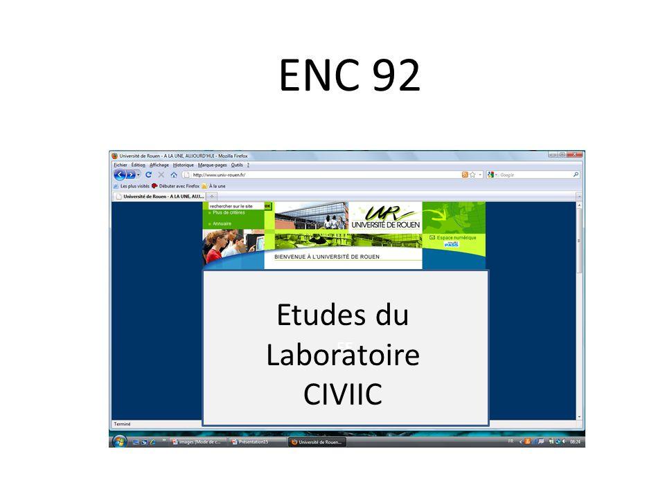 ENC 92 EE Etudes du Laboratoire CIVIIC