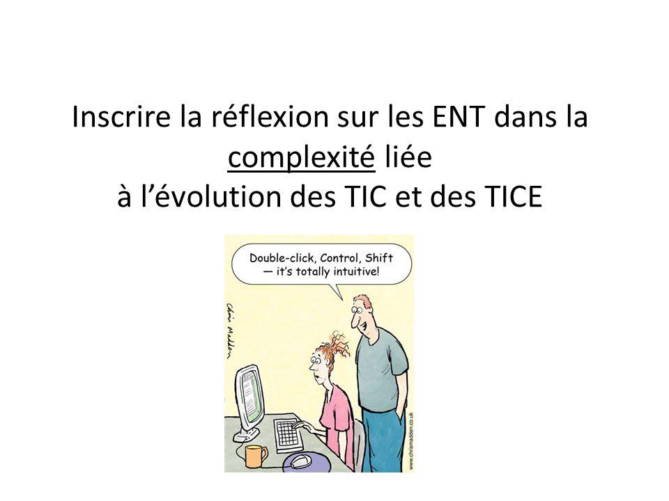 Inscrire la réflexion sur les ENT dans la complexité liée à l'évolution des TIC et des TICE