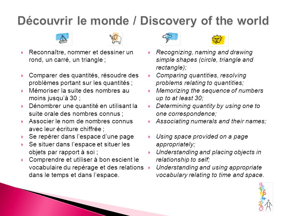 Découvrir le monde / Discovery of the world