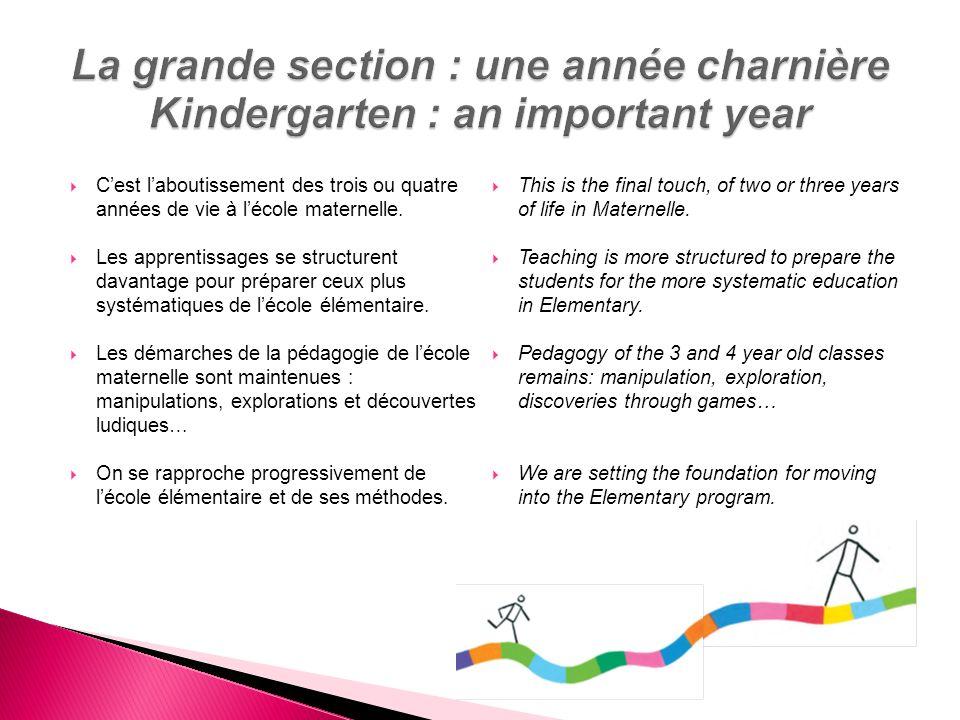 La grande section : une année charnière Kindergarten : an important year