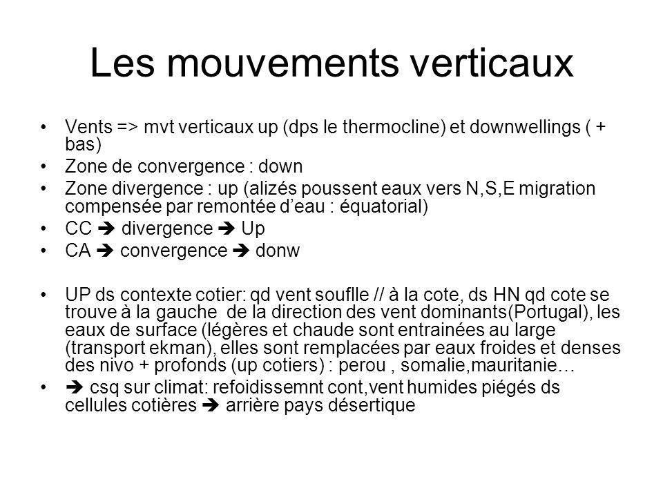 Les mouvements verticaux