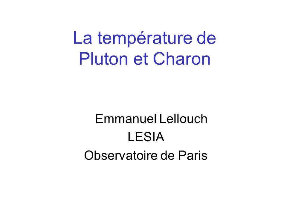 La température de Pluton et Charon
