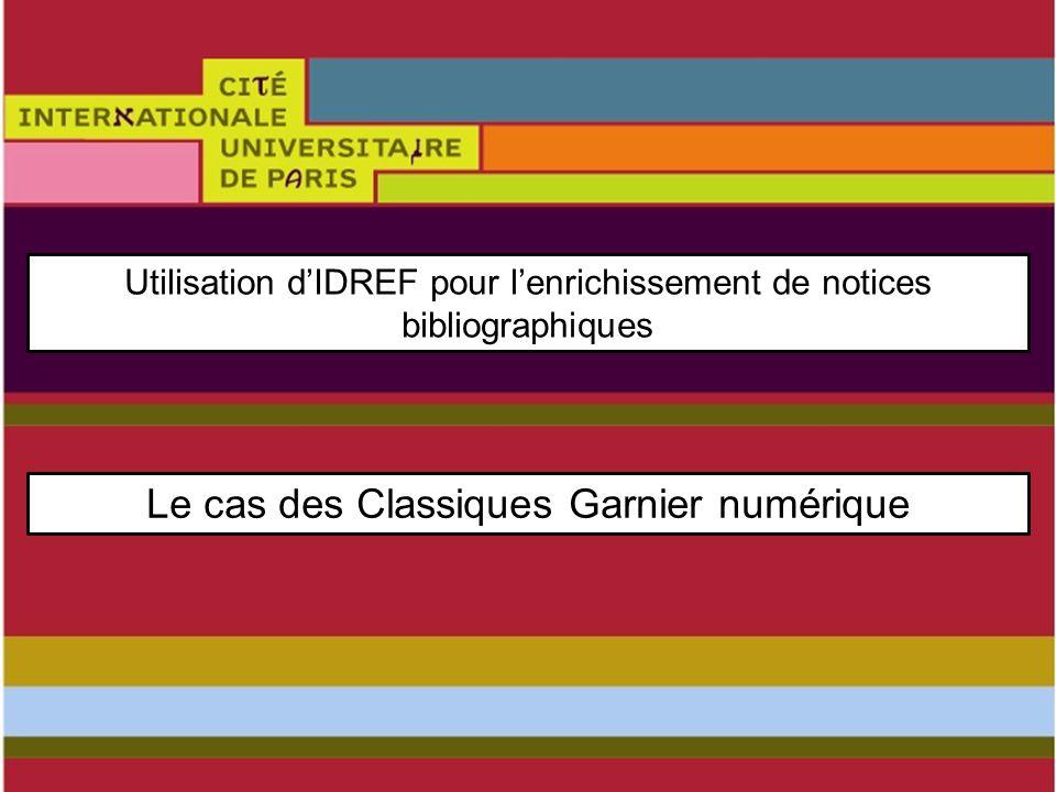 Le cas des Classiques Garnier numérique