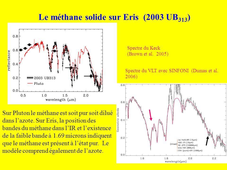 Le méthane solide sur Eris (2003 UB313)