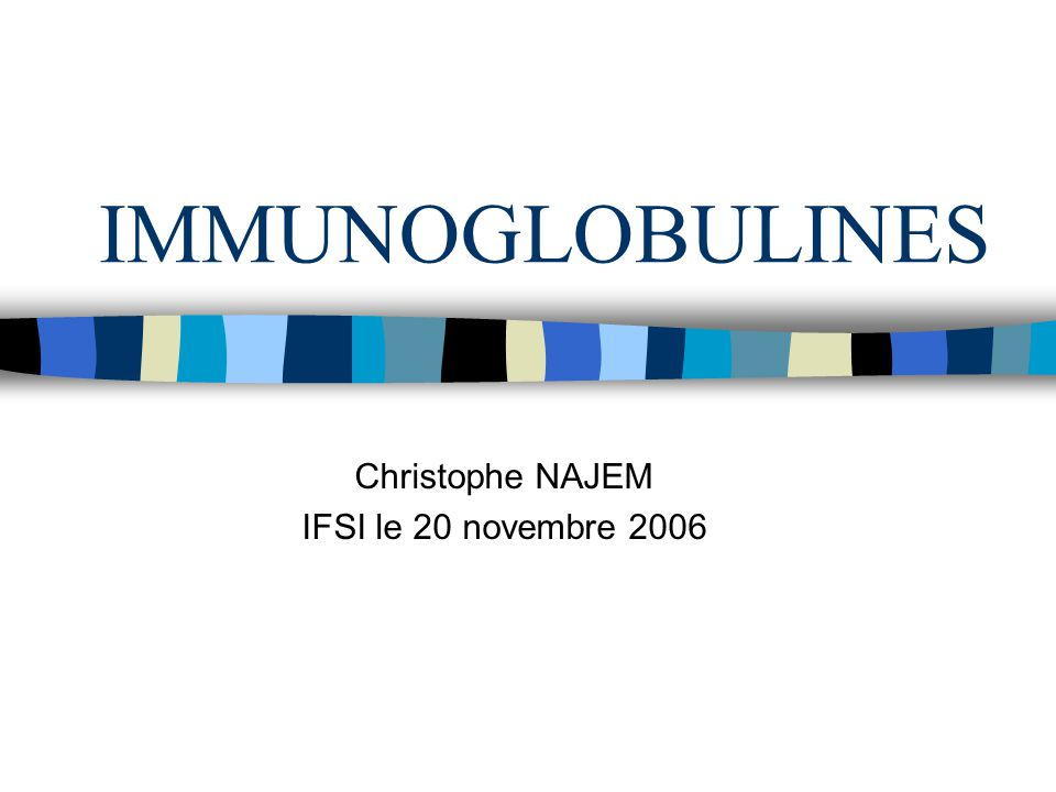 Christophe NAJEM IFSI le 20 novembre 2006
