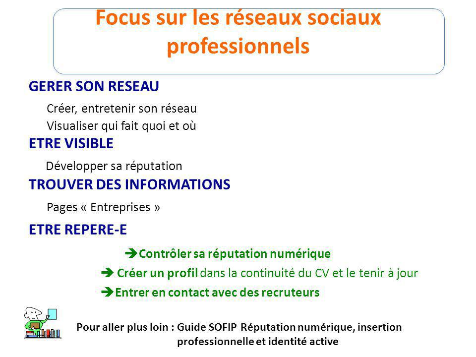 Focus sur les réseaux sociaux professionnels