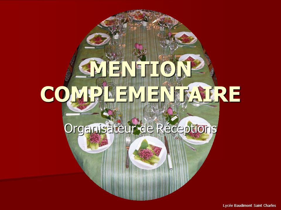 MENTION COMPLEMENTAIRE Ppt Video Online Télécharger - Mention complementaire cuisine