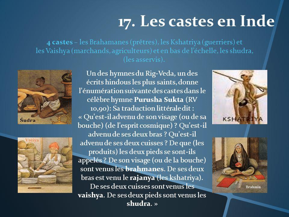 17. Les castes en Inde