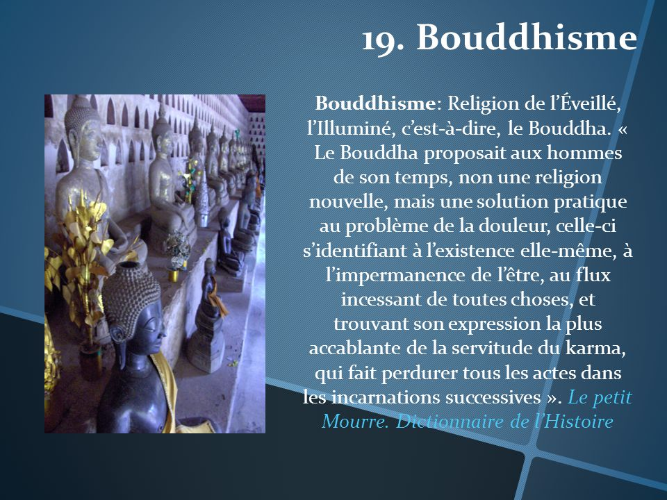 19. Bouddhisme