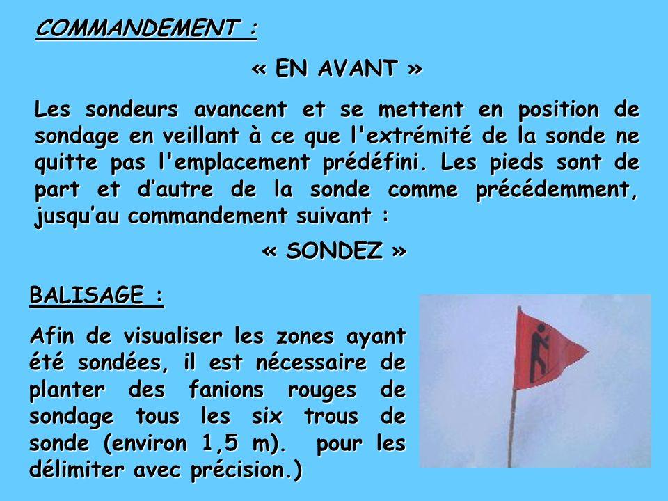 COMMANDEMENT : « EN AVANT »