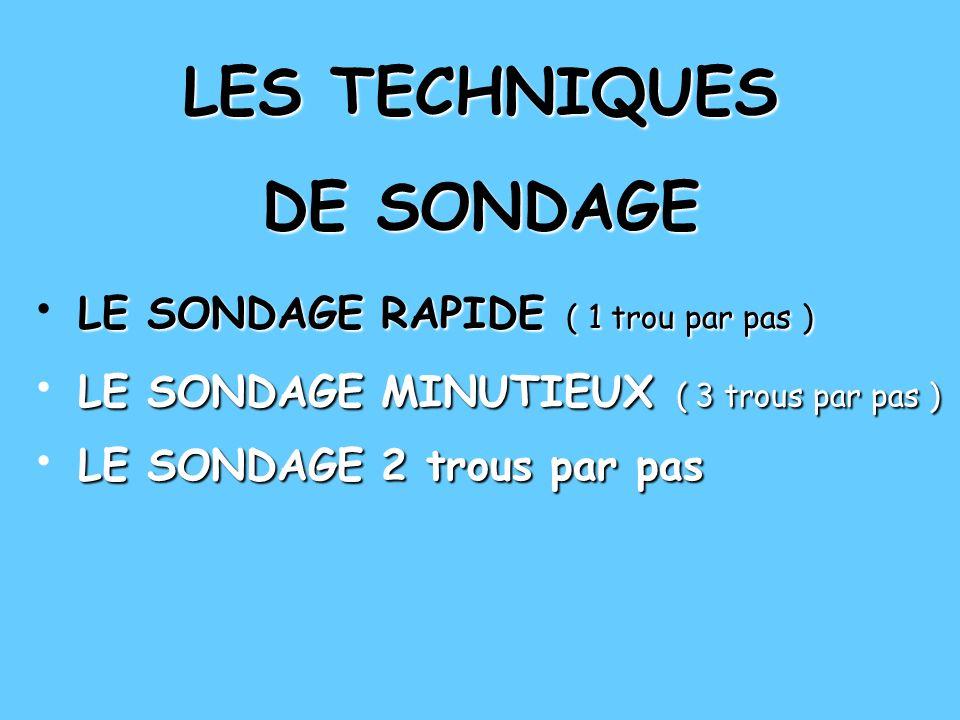 LES TECHNIQUES DE SONDAGE