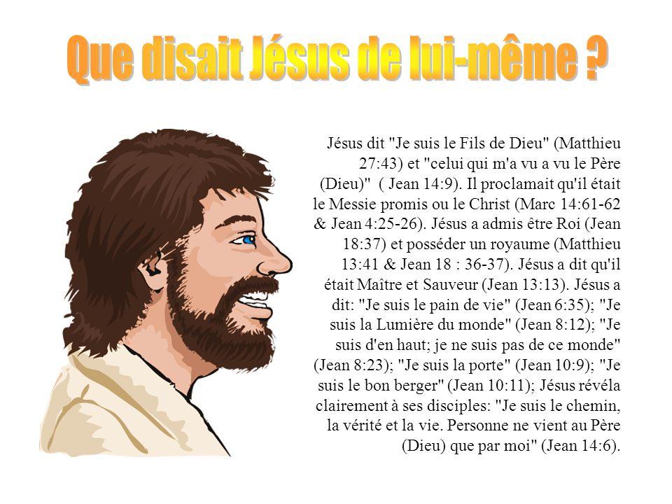 Que disait Jésus de lui-même
