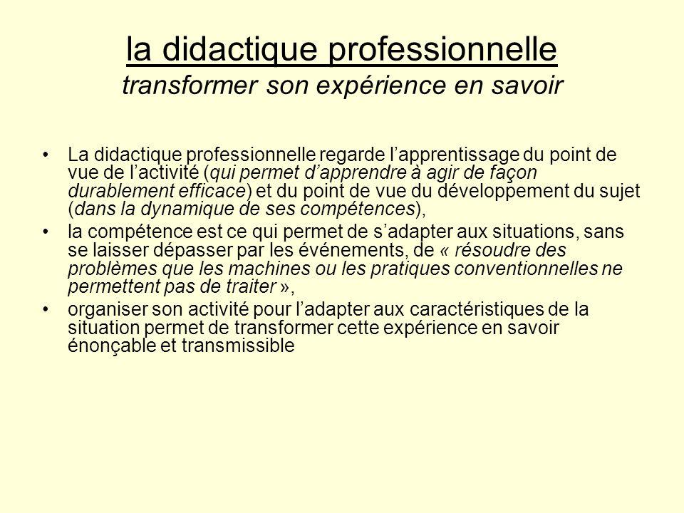 la didactique professionnelle transformer son expérience en savoir