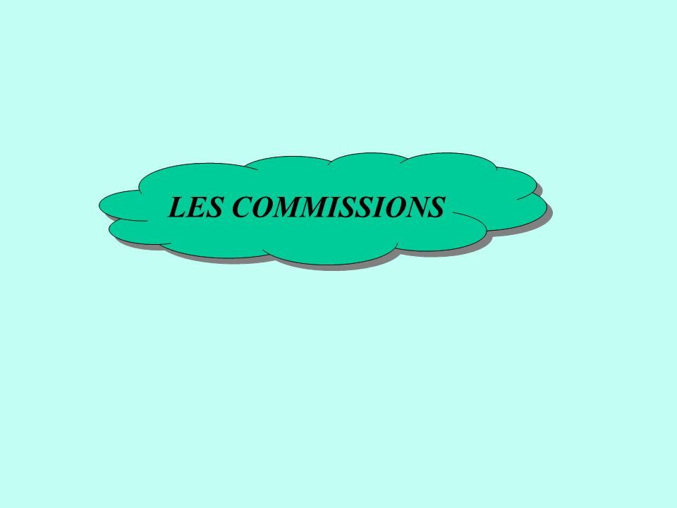LES COMMISSIONS