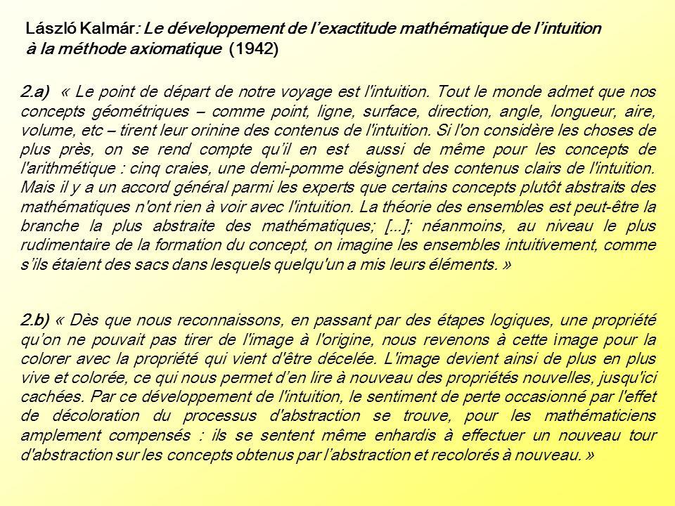 László Kalmár: Le développement de l'exactitude mathématique de l'intuition à la méthode axiomatique (1942)
