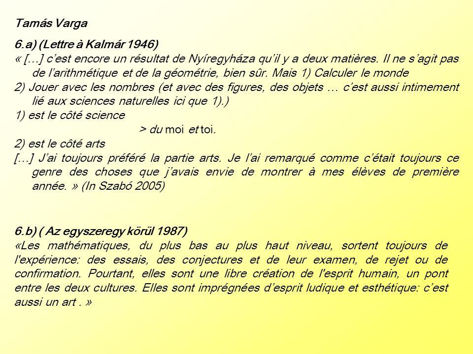Tamás Varga 6.a) (Lettre à Kalmár 1946)