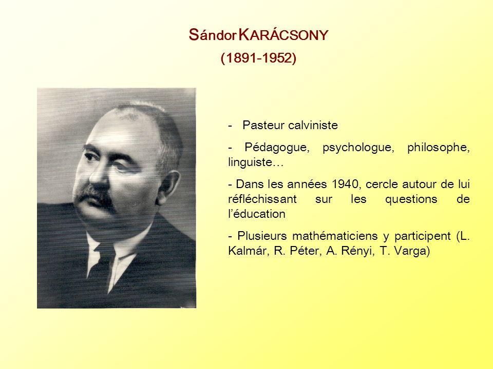 Sándor KARÁCSONY (1891-1952) - Pasteur calviniste
