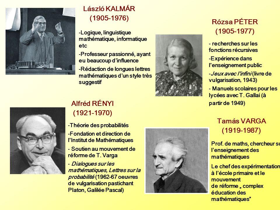 László KALMÁR (1905-1976) Rózsa PÉTER (1905-1977) Alfréd RÉNYI