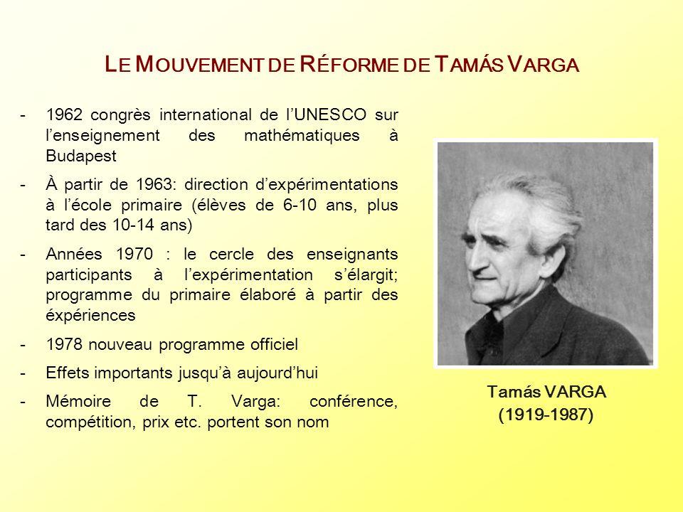 LE MOUVEMENT DE RÉFORME DE TAMÁS VARGA