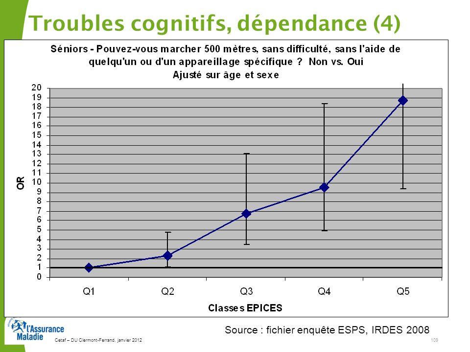 Troubles cognitifs, dépendance (4)