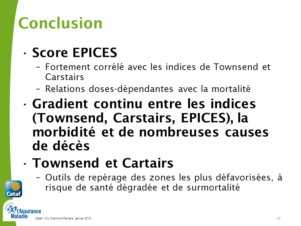 Conclusion Score EPICES