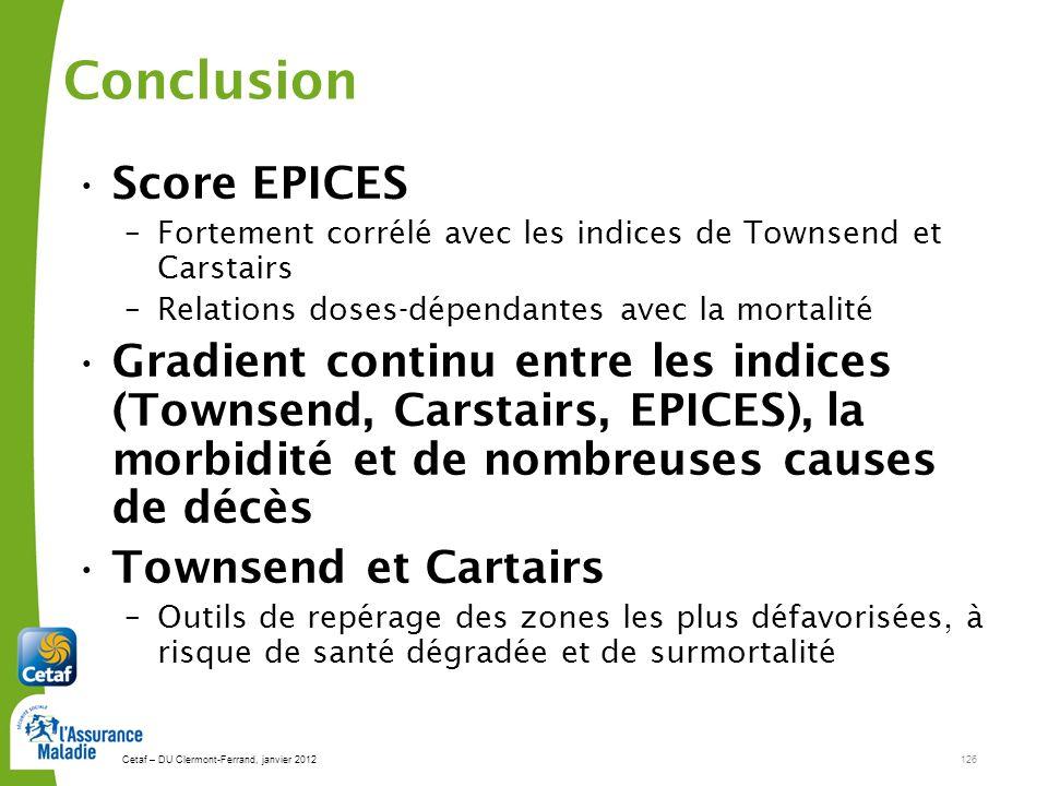 Conclusion Score EPICES