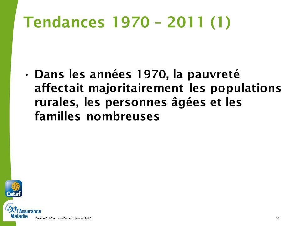 Tendances 1970 – 2011 (1)