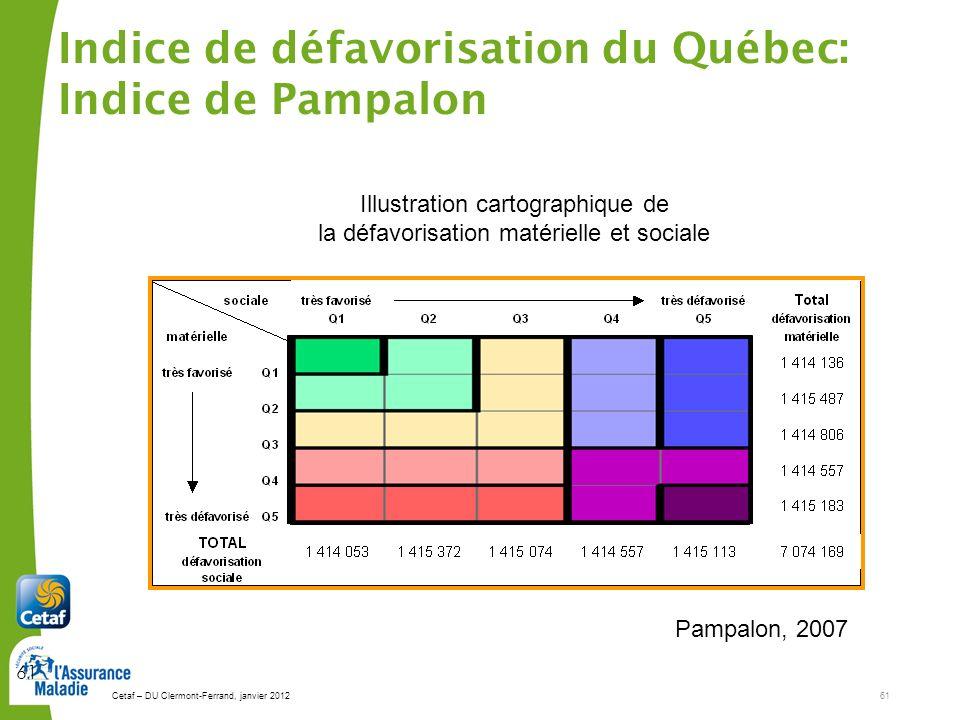 La défavorisation au Québec