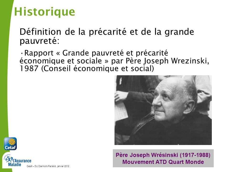 Père Joseph Wrésinski (1917-1988) Mouvement ATD Quart Monde
