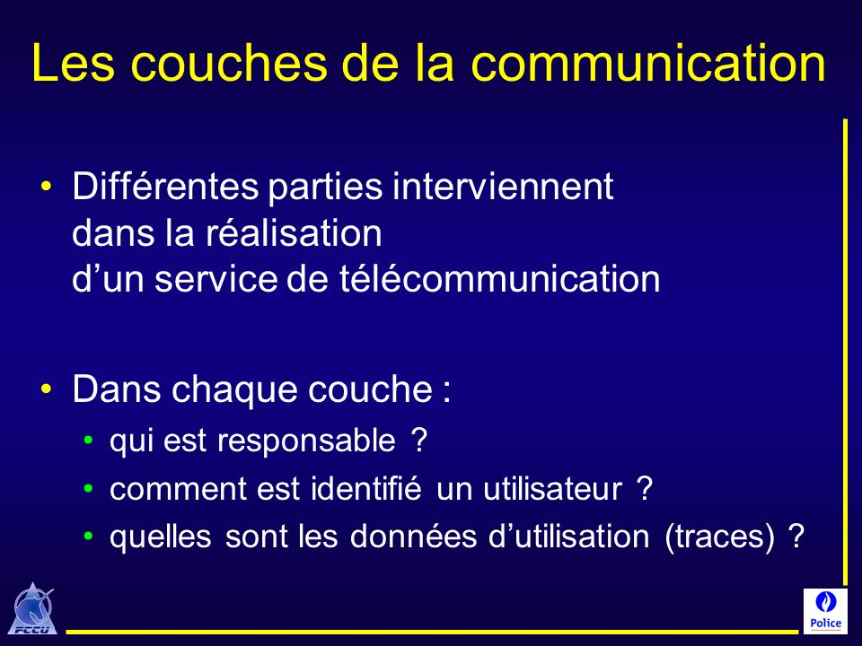 Les couches de la communication