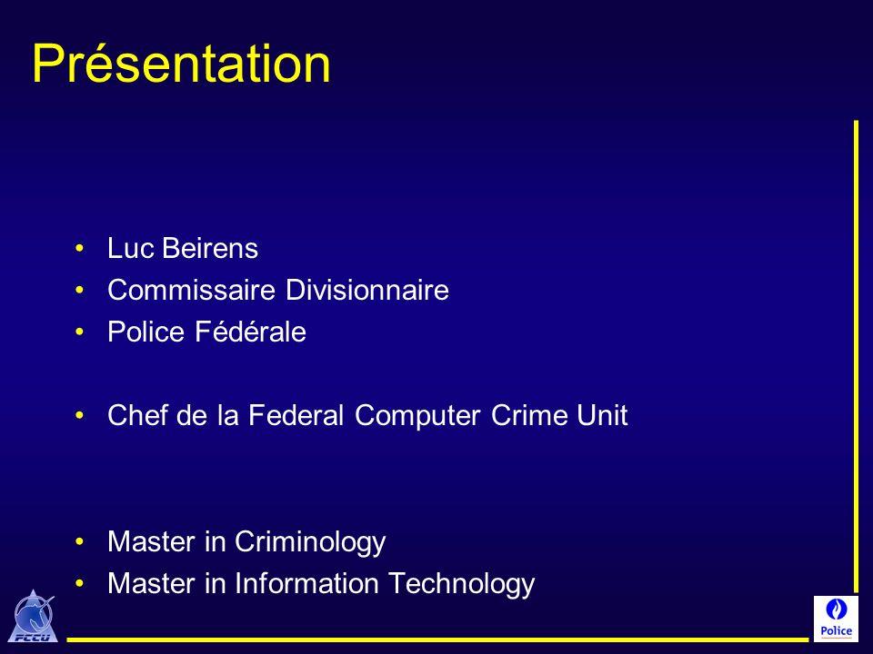 Présentation Luc Beirens Commissaire Divisionnaire Police Fédérale