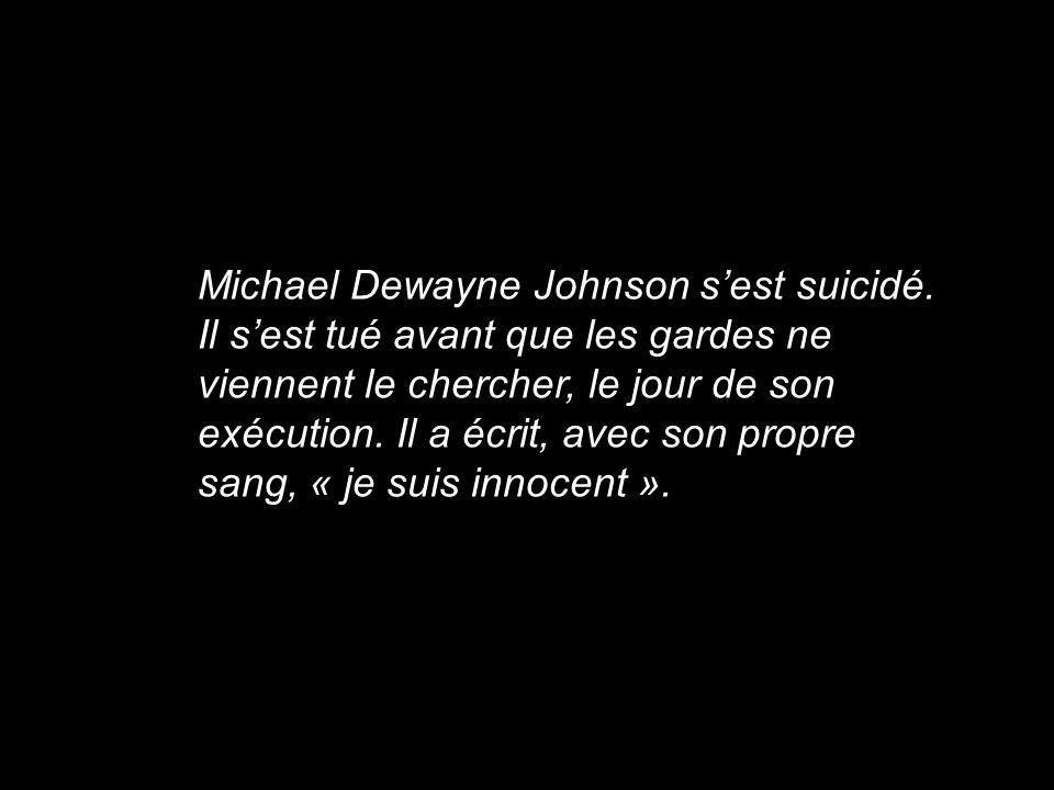 Michael Dewayne Johnson s'est suicidé