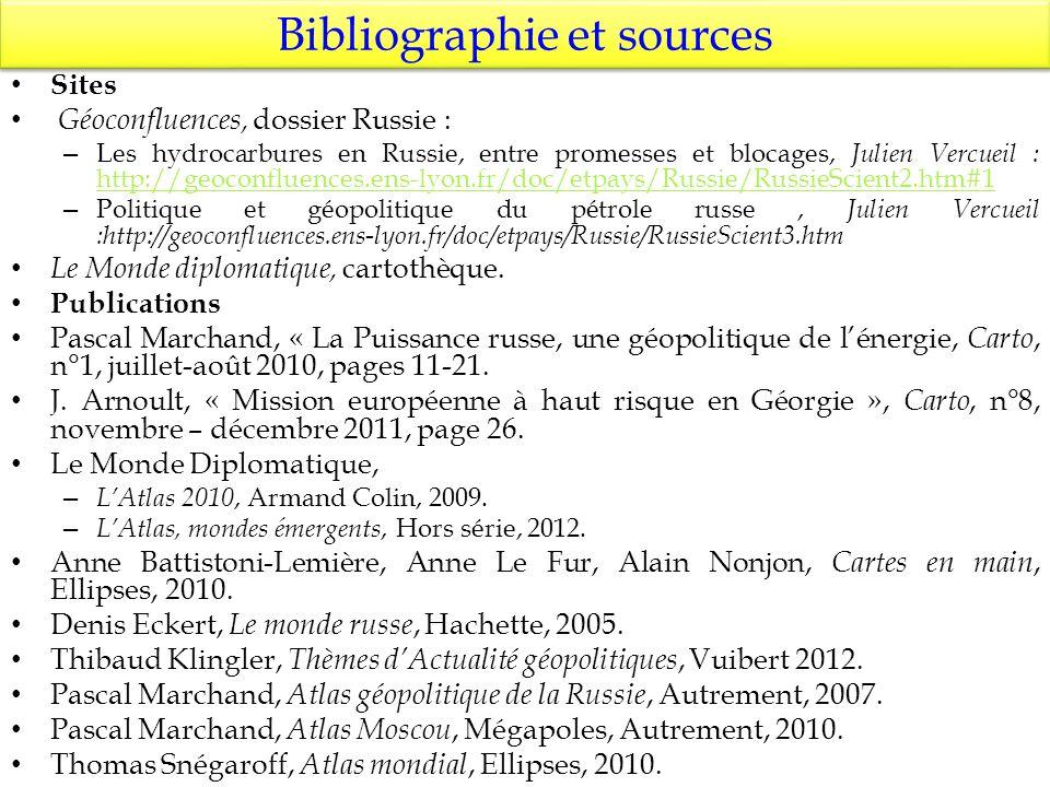 Bibliographie et sources