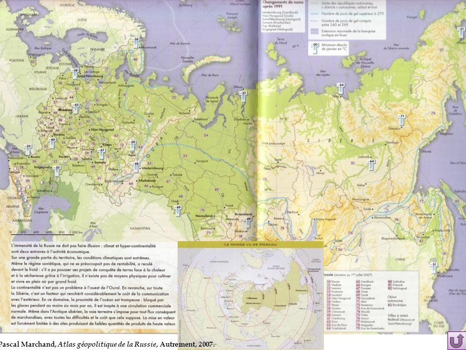 Pascal Marchand, Atlas géopolitique de la Russie, Autrement, 2007.