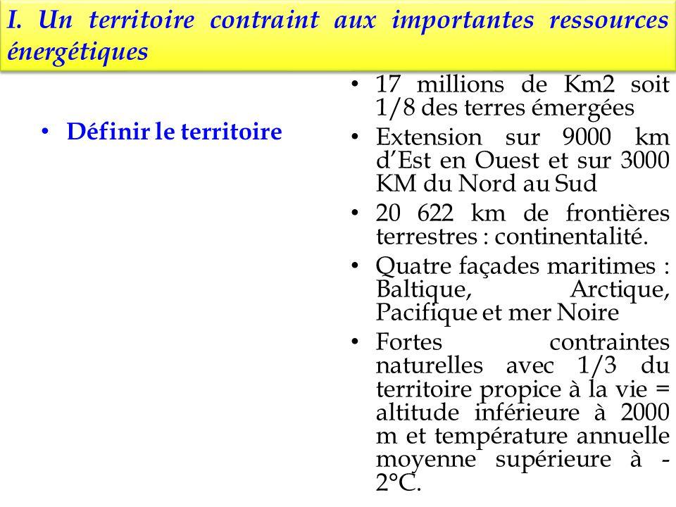I. Un territoire contraint aux importantes ressources énergétiques