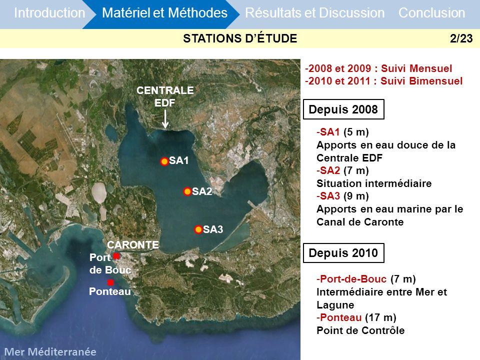 STATIONS D'ÉTUDE 2/23 Depuis 2008 Depuis 2010 Mer Méditerranée