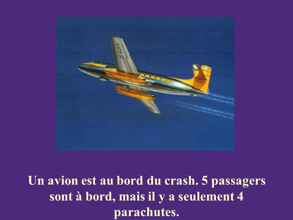 Un avion est au bord du crash