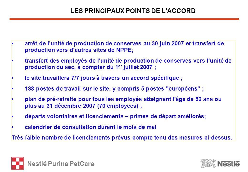 LES PRINCIPAUX POINTS DE L ACCORD