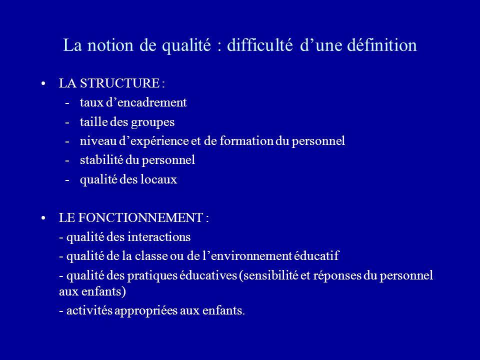 La notion de qualité : difficulté d'une définition