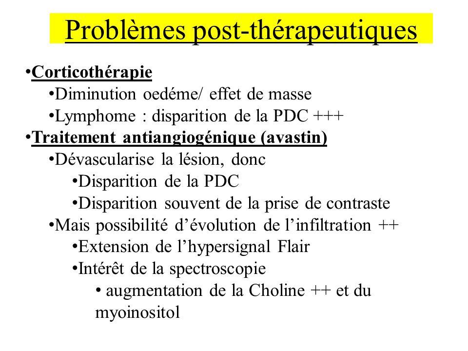 Problèmes post-thérapeutiques