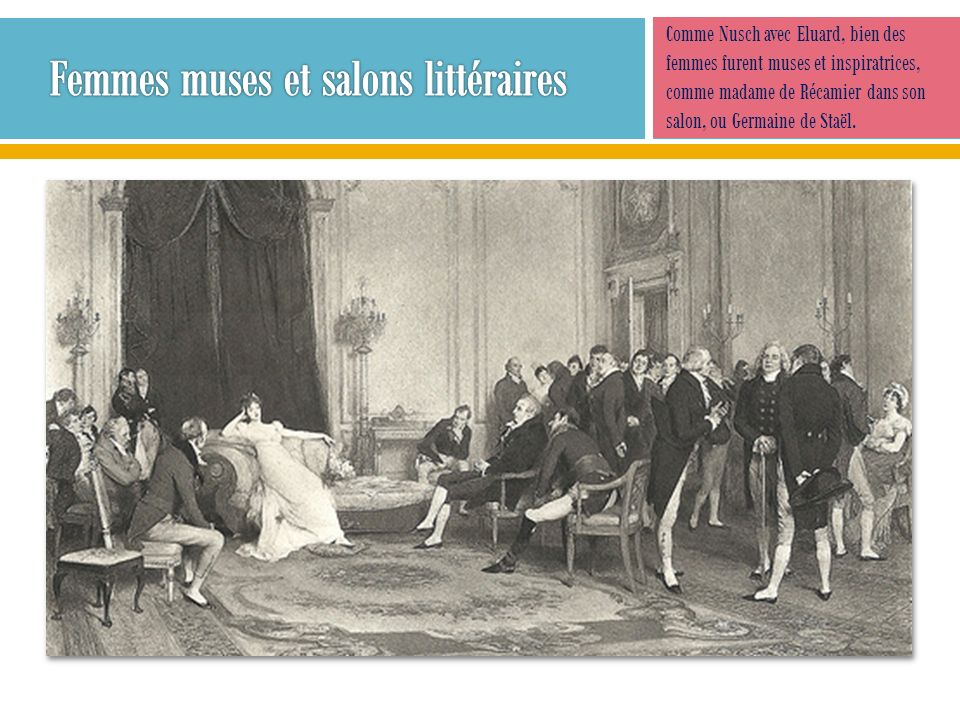 Femmes muses et salons littéraires